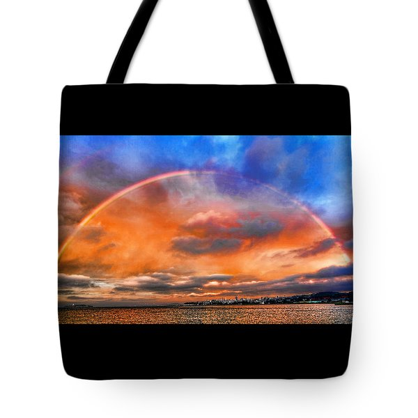 Tote Bag featuring the photograph Over The Top Rainbow by Steve Siri