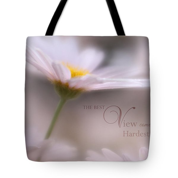 Over The Top With Message Tote Bag