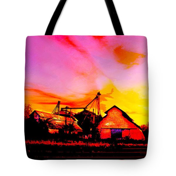 Over The Tracks --somewhere In Texas Tote Bag