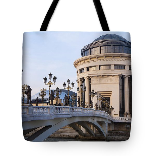 Over The Vardar River Tote Bag by Rae Tucker