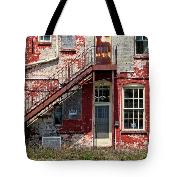 Tote Bag featuring the photograph Over Under The Stairs by Christopher Holmes