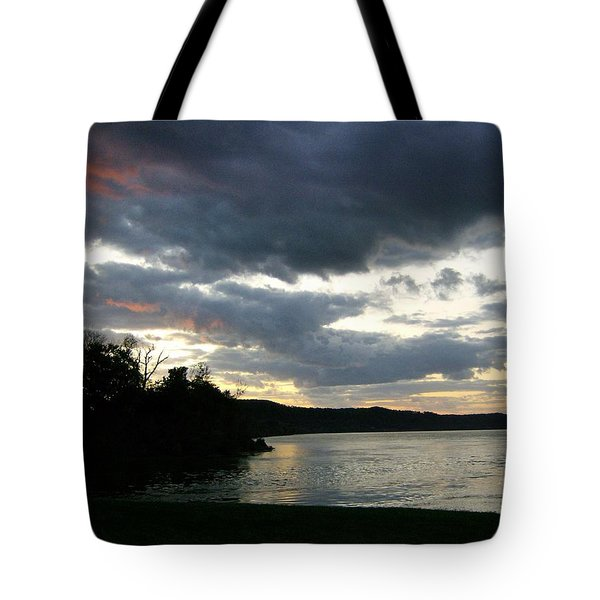 Tote Bag featuring the photograph Overcast Morning Along The River by Skyler Tipton