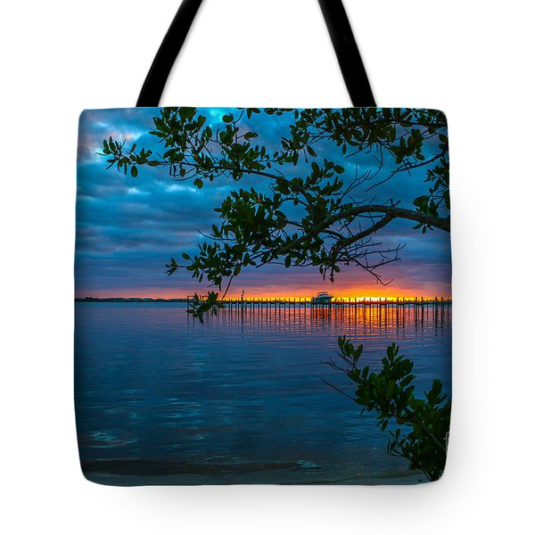Tote Bag featuring the photograph Overcast Sunrise by Tom Claud