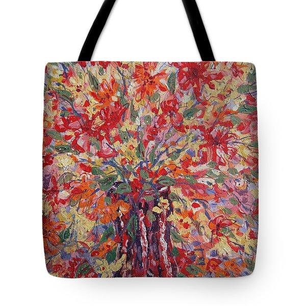 Overflowing Flowers. Tote Bag