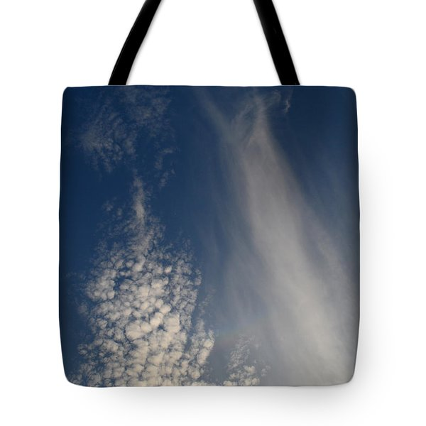Tote Bag featuring the photograph Overhead Clouds  by Lyle Crump