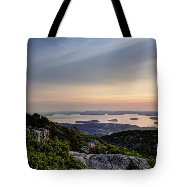 Tote Bag featuring the photograph Overlooking Bar Harbor by Gary Smith