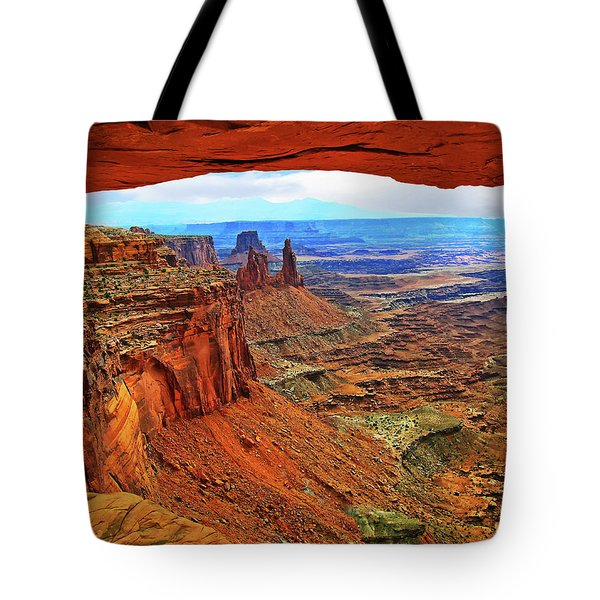 Overlooking Canyonlands National Park    Moab Utah Tote Bag