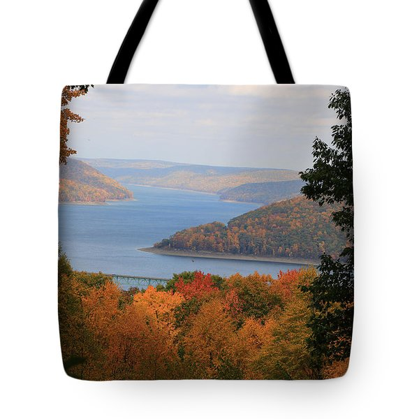 Overlooking Kinzua Lake Tote Bag