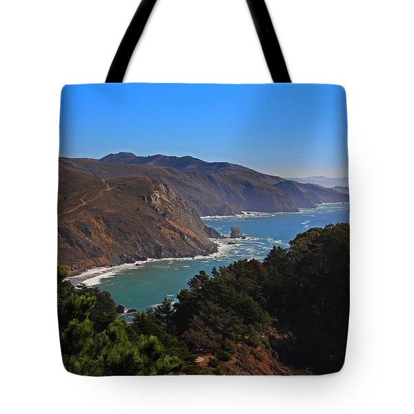 Overlooking Marin Headlands Tote Bag