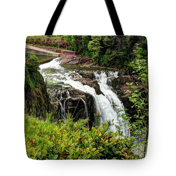 Overlooking Snoqualmie Falls Tote Bag by Chris Anderson