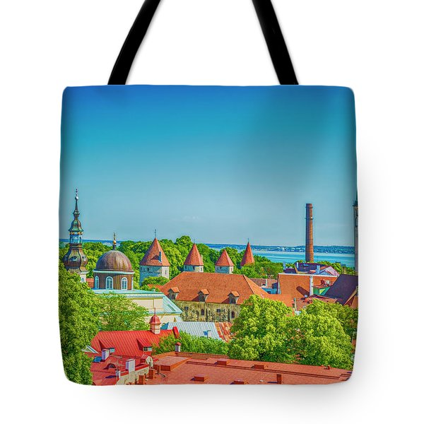 Overlooking Tallinn Tote Bag