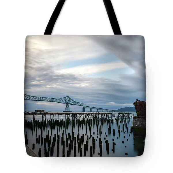 Overlooking The Bridge Tote Bag