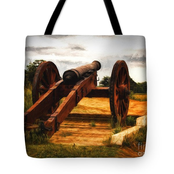 Tote Bag featuring the photograph Overlooking Yorktown  ... by Chuck Caramella