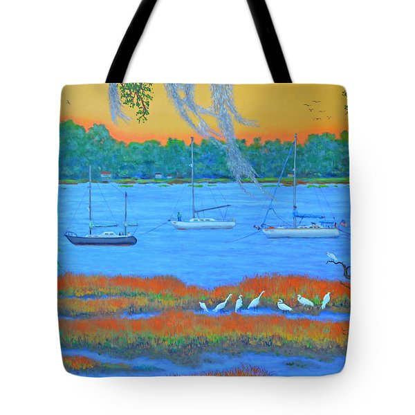 Overnight In Beaufort Tote Bag by Dwain Ray