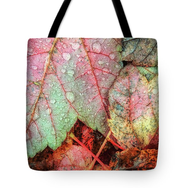 Overnight Rain Leaves Tote Bag by Todd Breitling