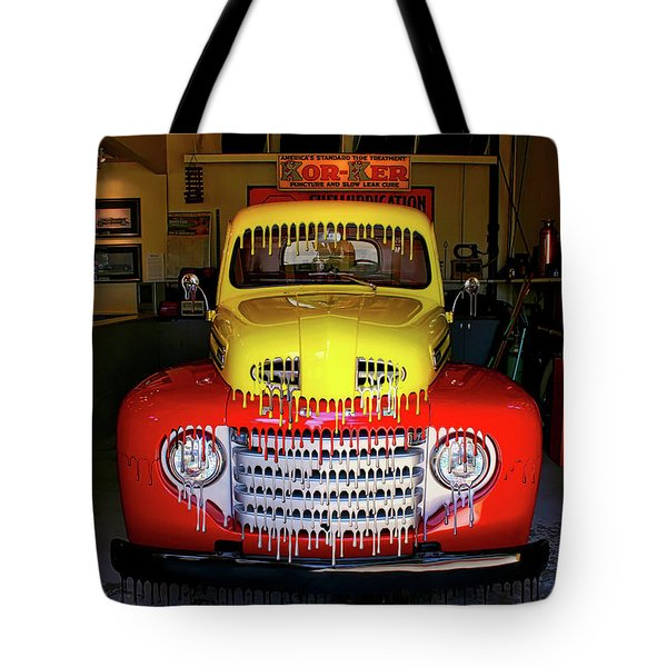 Overpainted 1950 Ford Pickup Tote Bag