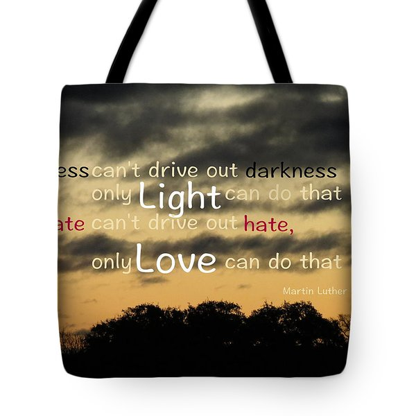 Overpowering Hate Tote Bag by David Norman