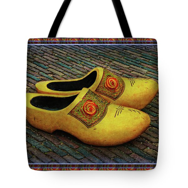 Tote Bag featuring the photograph Oversized Dutch Clogs by Hanny Heim