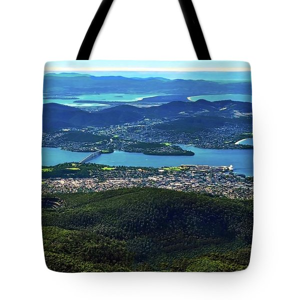 Overview Of Hobart Tasmania Tote Bag by Kirsten Giving