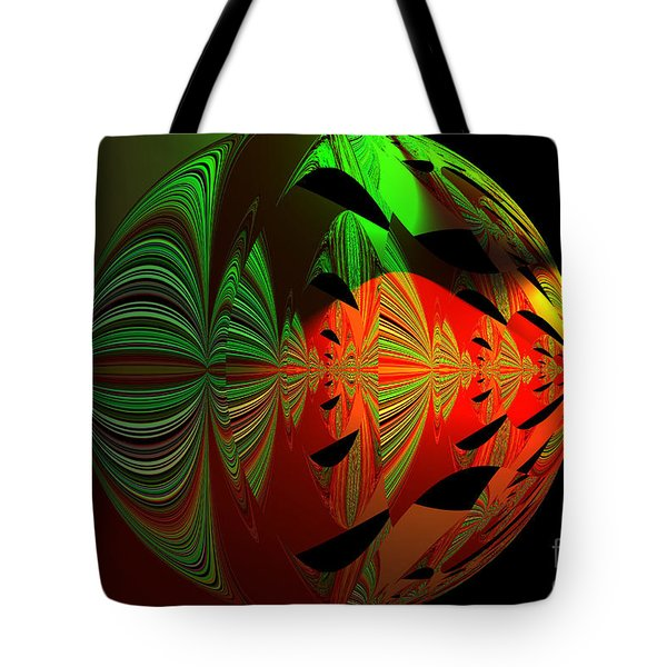 Art Green, Red, Black Tote Bag