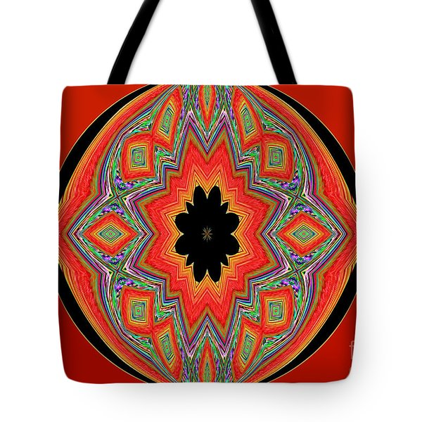 Unique And Colorful Orange Black Yellow Design Tote Bag