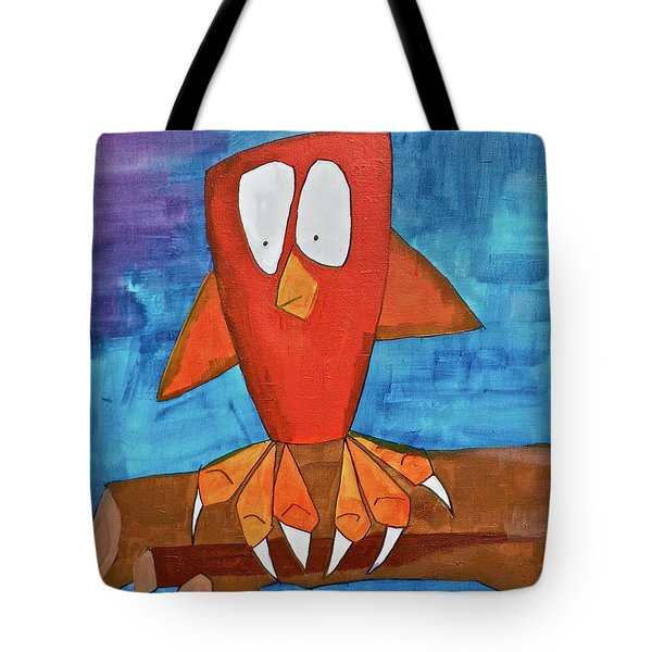 Tote Bag featuring the painting Owel by Donna Howard