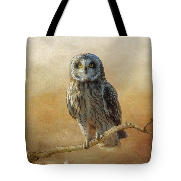 Tote Bag featuring the photograph Owl  by Angie Vogel