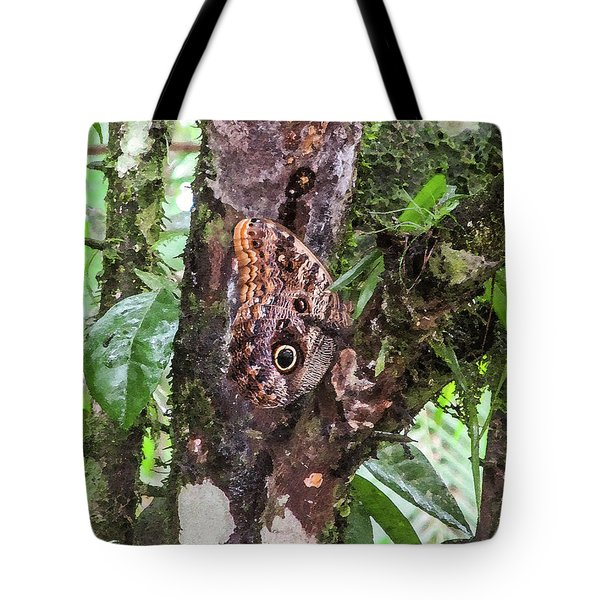 Owl Butterfly On A Tree Tote Bag