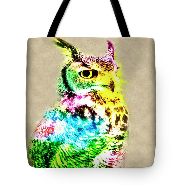 Owl Tote Bag by David Millenheft