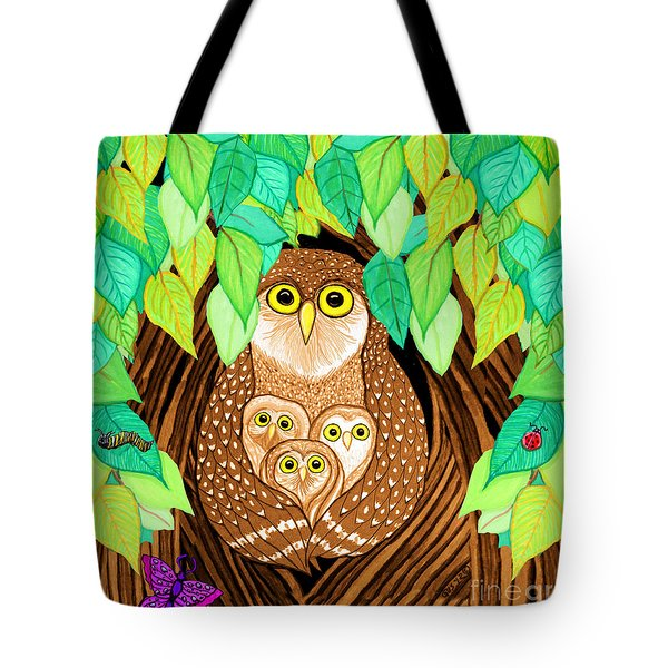 Owl Family Tree Tote Bag