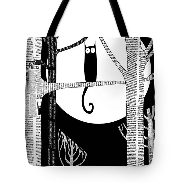 Owl Impression Tote Bag