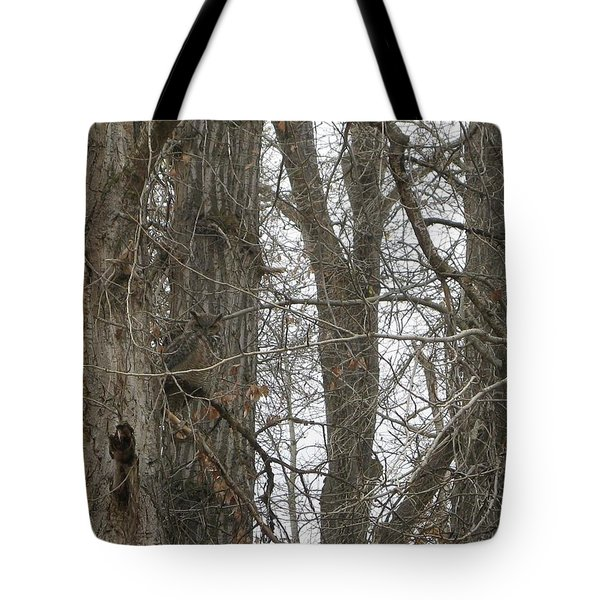 Owl In Camouflage Tote Bag