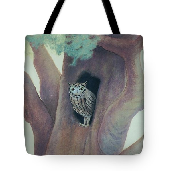 Owl In Tree Tote Bag