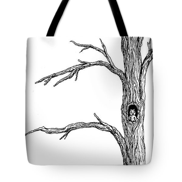 Owl Ink Tree Tote Bag