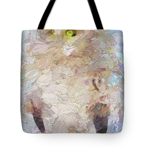 Tote Bag featuring the digital art OWL by Jim  Hatch