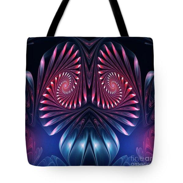 Tote Bag featuring the digital art Owl by Jutta Maria Pusl