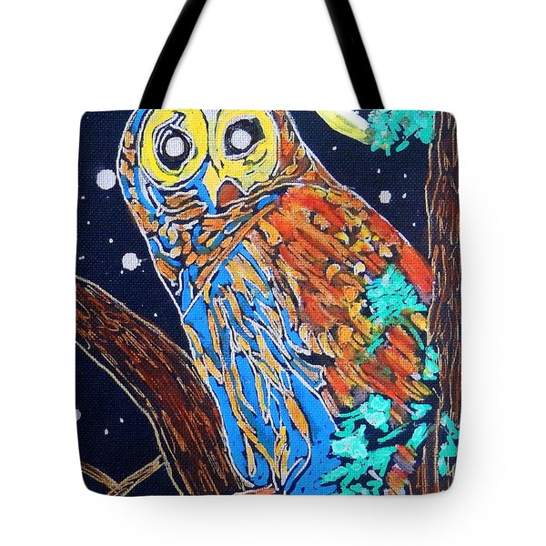 Owl Light Tote Bag