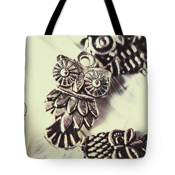 Owl Pendants. Charms Of Wisdom Tote Bag