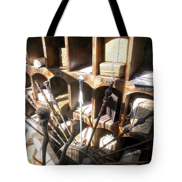 Tote Bag featuring the photograph Owl Post Office Hogsmeade by Juergen Weiss