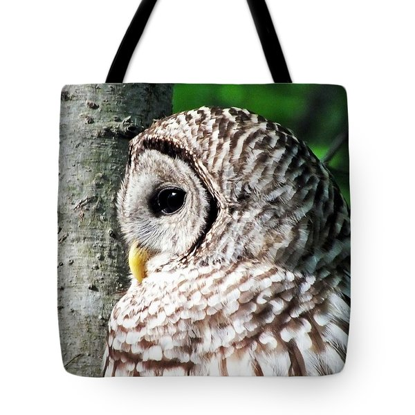 Owl Profile Tote Bag