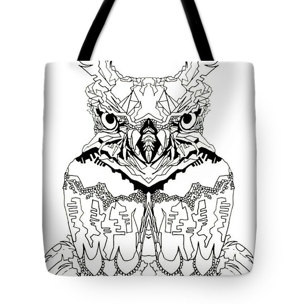Tote Bag featuring the painting Owl Sketch 1 by Amy Sorrell
