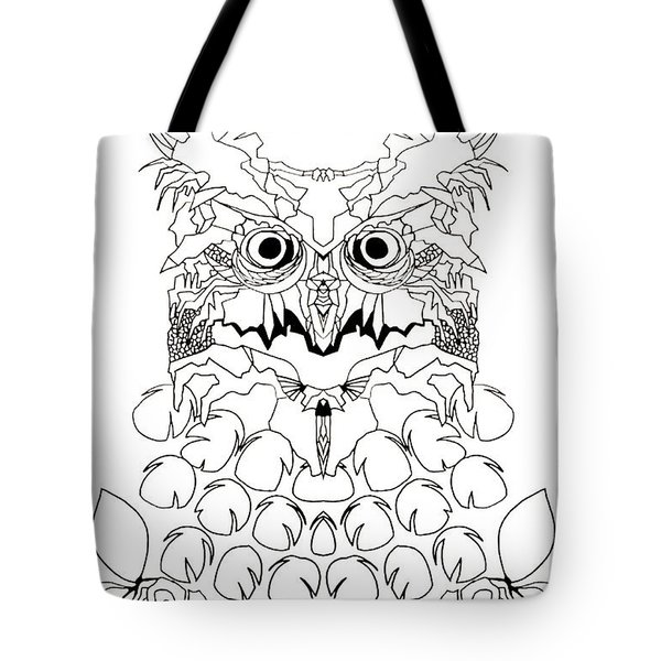 Tote Bag featuring the painting Owl Sketch 2 by Amy Sorrell