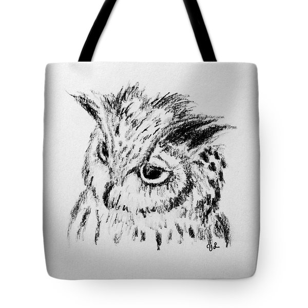 Owl Study Tote Bag by Victoria Lakes