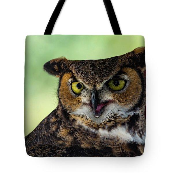 Owl Tongue Tote Bag