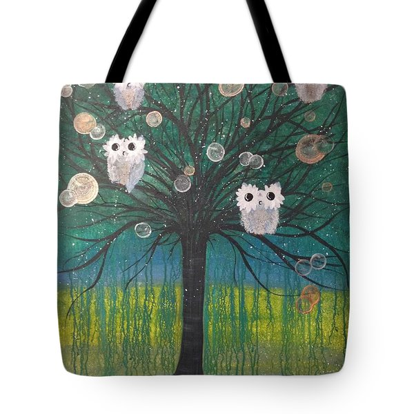 Owl Tree Of Life #378 Tote Bag