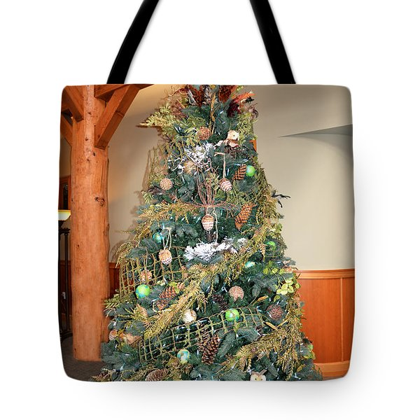 Owl Xmas Tree Tote Bag