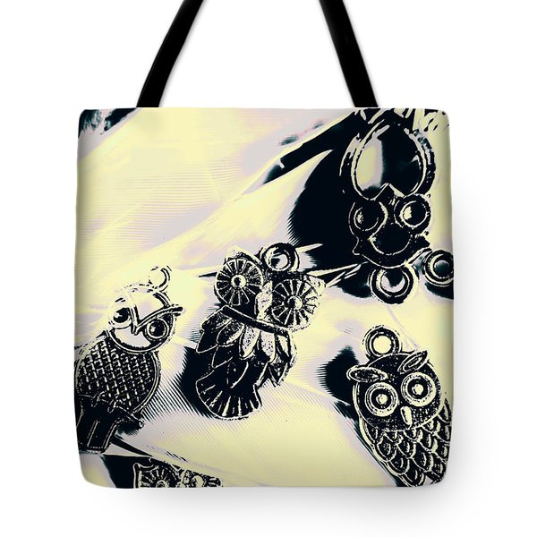 Owls From Blue Yonder Tote Bag