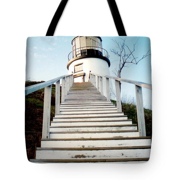 Owl's Head Light Tote Bag by Greg Fortier