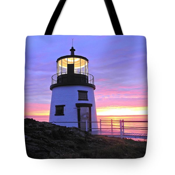 Owls Head Light Tote Bag
