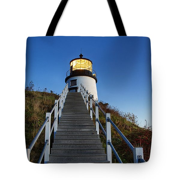 Owls Head Lighthouse Tote Bag by John Greim